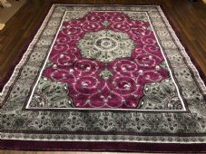 Modern Rug Approx 9x7ft 270x220cm Woven Thick Sale rug Top Quality Greys/Purples